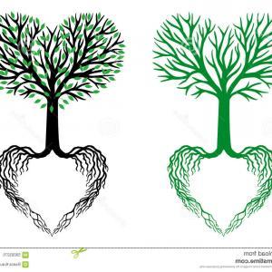 300x300 Stock Illustration Tree Life Heart Tree Vector Shaped Branches