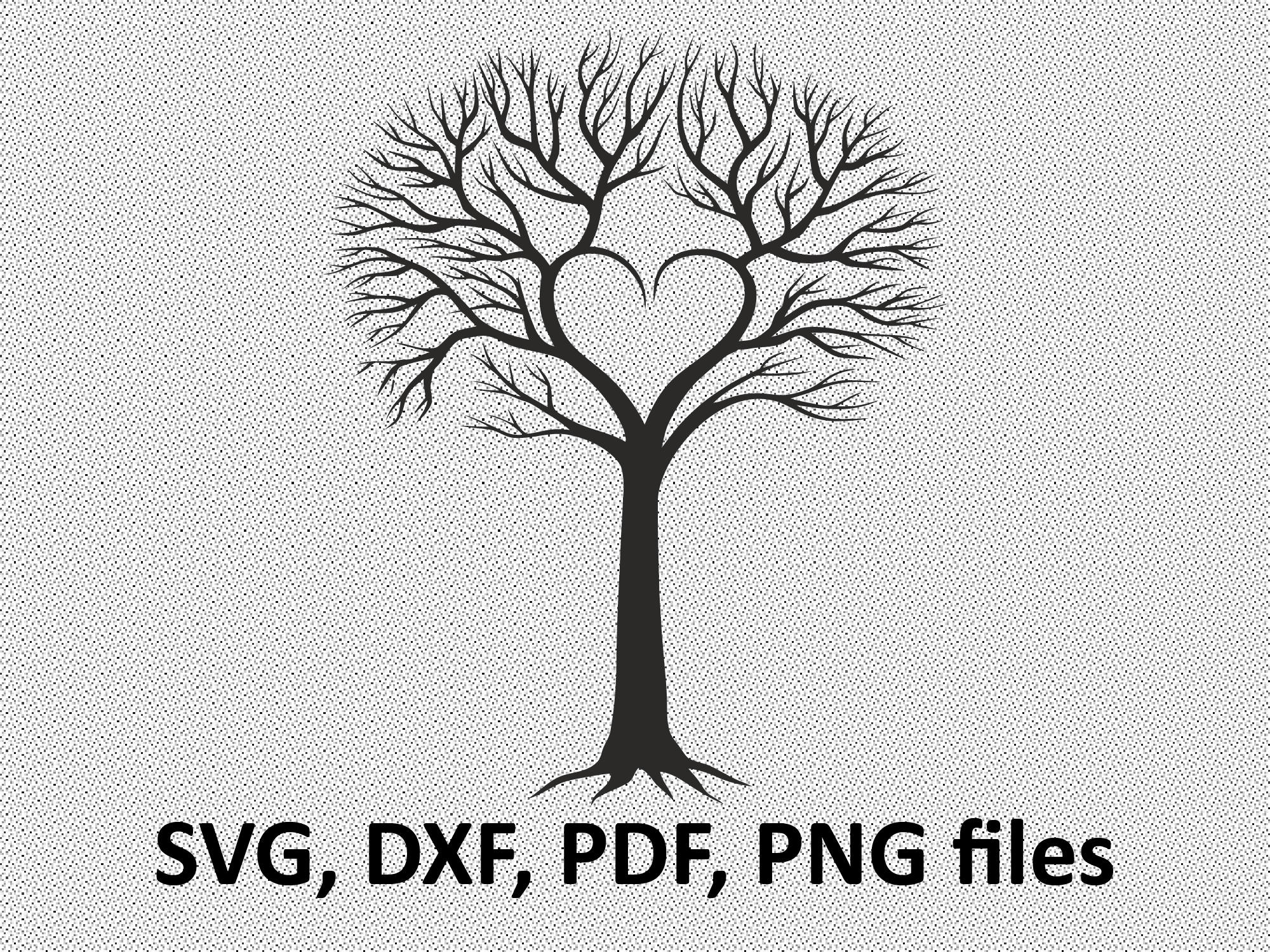 2000x1500 Tree Svg Tree Dxf Tree Silhouette Clipart Svg Files Etsy