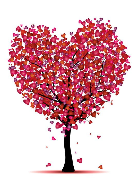 540x700 Heart Tree Vector Wall Mural We Live To Change