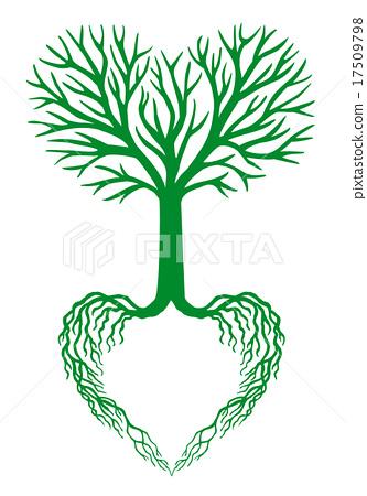 333x450 Tree Of Life, Green Heart Tree, Vector