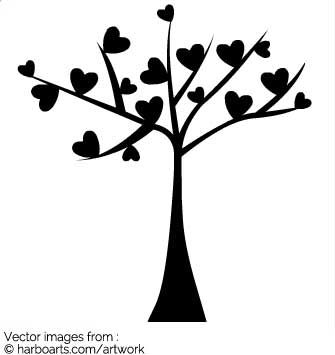 335x355 Download Valentine Heart Tree