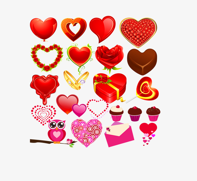 650x598 Heart Vector Various Source Files, Various Hearts, Red, Gift Png