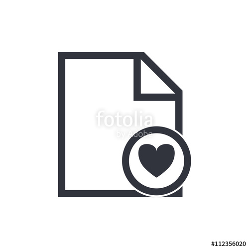 500x500 File Heart Icon, File Heart Eps10, File Heart Vector, File Heart