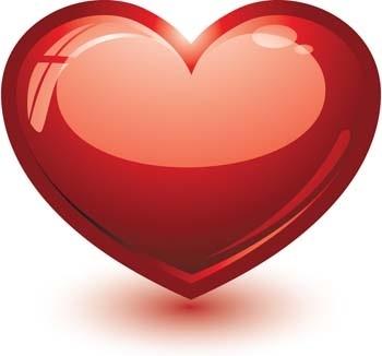 350x326 3d Heart Vector, Heart Vector Ai Illustrator, Photoshop Heart