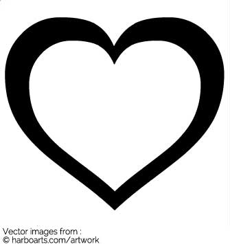 335x355 Download Big Outline Heart