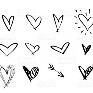 300x300 Free Vector Heart Outline Lovely Heart Vector Heart Vector Outline