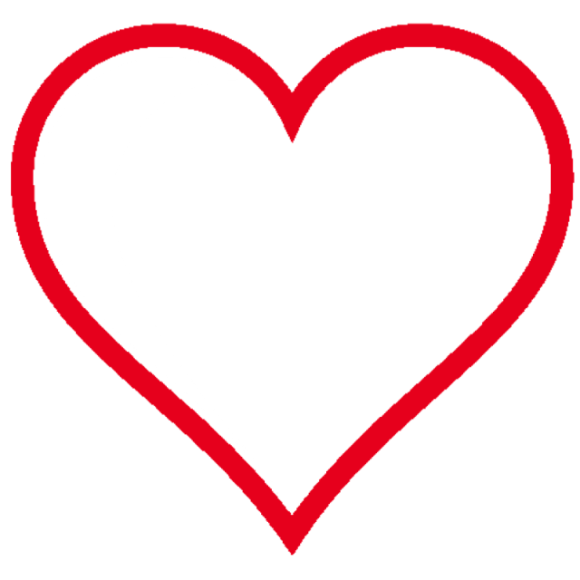 640x640 Free Heart Outline Graphic Free Library