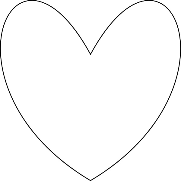 600x600 Heart Outline Clip Art Free Vector In Open Office Drawing Svg