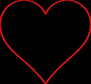 298x276 Heart Outline