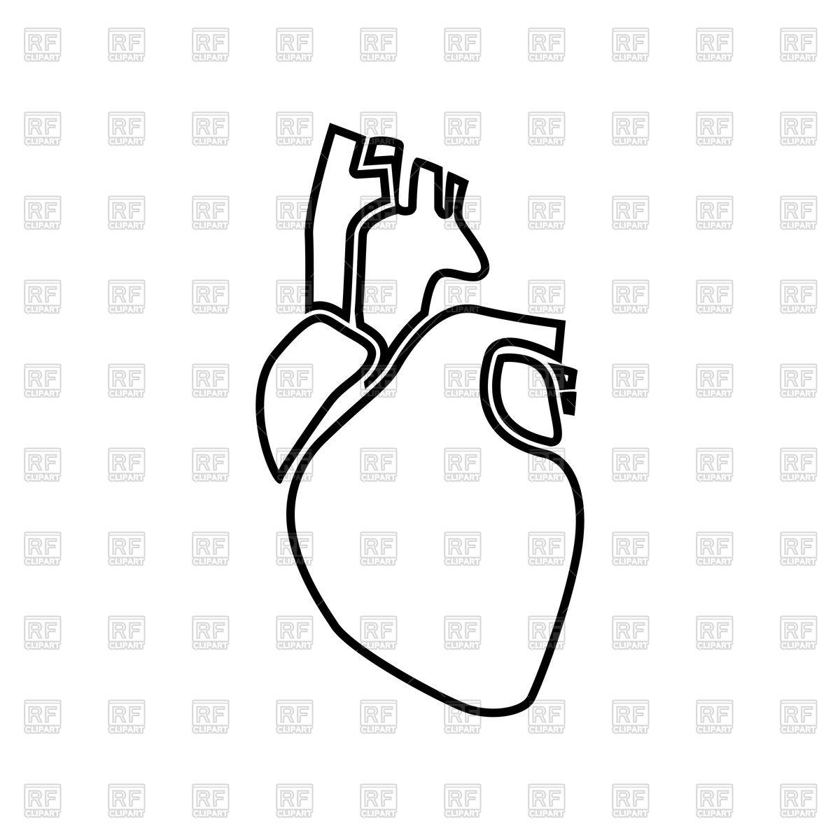 1200x1200 Human Heart Outline Icon Vector Image Vector Artwork Of
