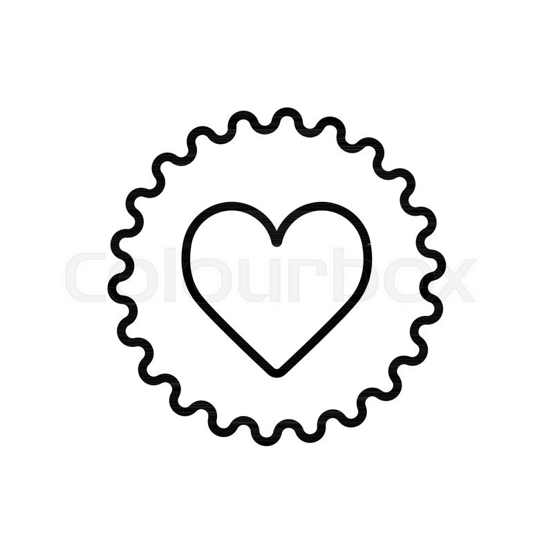 800x800 Illustration Of A Gear Icon With A Heart. Vector Illustration