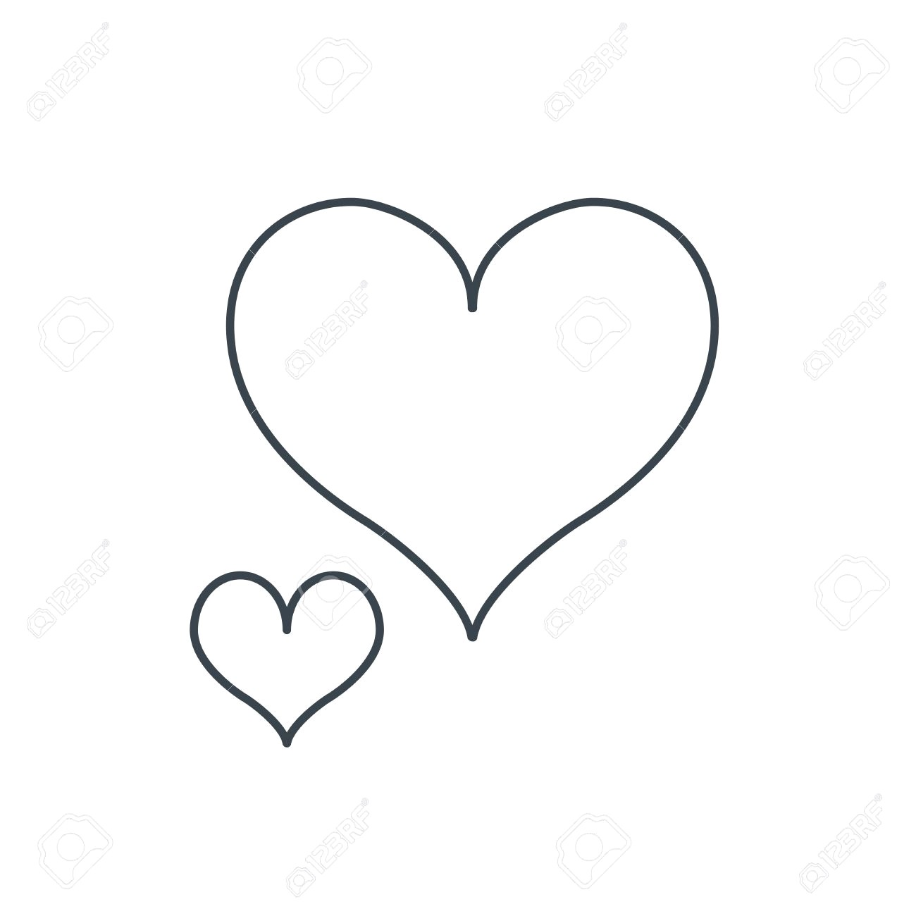 1300x1300 43180030 Love Hearts Icon Lovers Sign Couple Relationships Linear