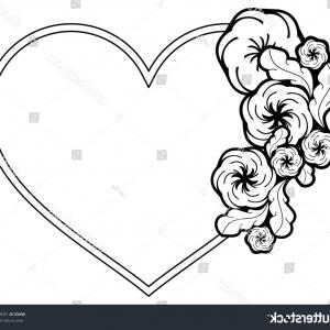 300x300 Set Of Black Lace Hearts Vector Clipart Orangiausa