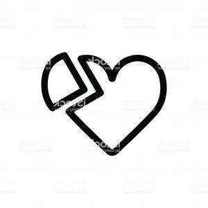 300x300 Black Heart Of Hearts Vector Clipart Orangiausa
