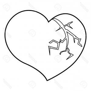 300x300 Broken Heart Line Icon Outline Vector Sohadacouri