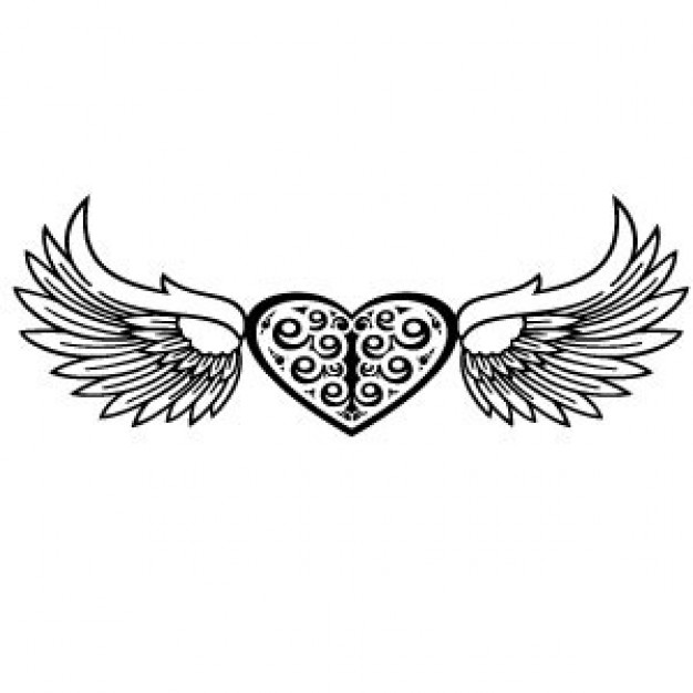626x626 Heart And Wings Vector Vector Free Download