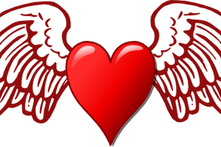 450x300 Collection Of Free Heart Vector Wing. Download On Ubisafe
