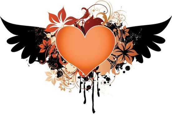 552x368 Heart Wing Graffity Free Vector Download (5,120 Free Vector) For