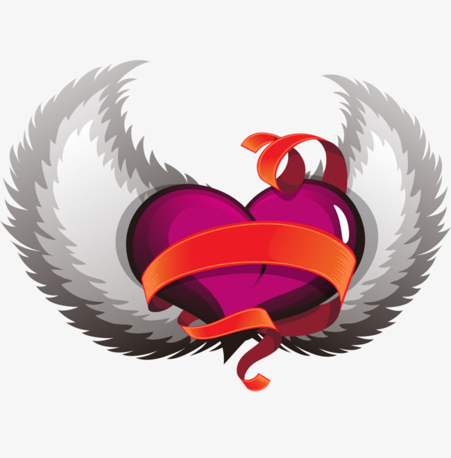 650x660 Vector Heart Wings To Fly, Heart Vector, Wings Vector, Fly Vector