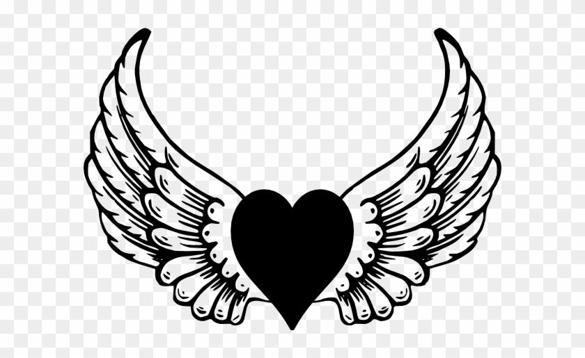 840x515 Eagle Heart Wings Clip Art