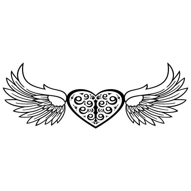660x660 Heart And Wings Free Vector