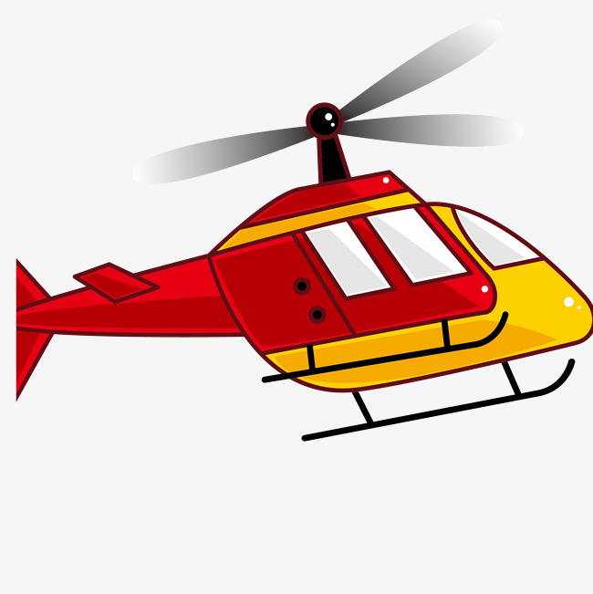 650x651 Cartoon Red Helicopter Vector, Cartoon Vector, Cartoon Helicopter