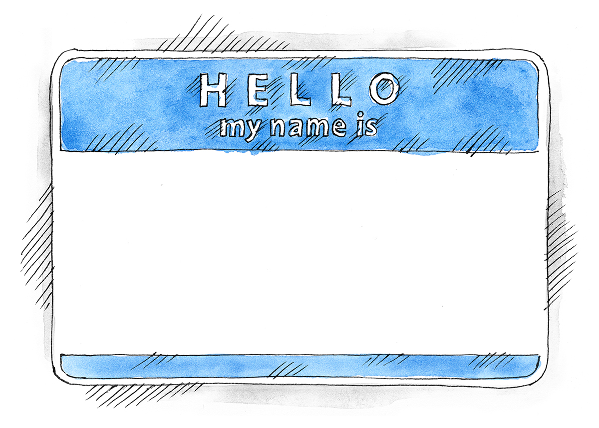 1200x857 Free Eps Psd Watercolor Blue Name Tag Hello My Name Is On Behance