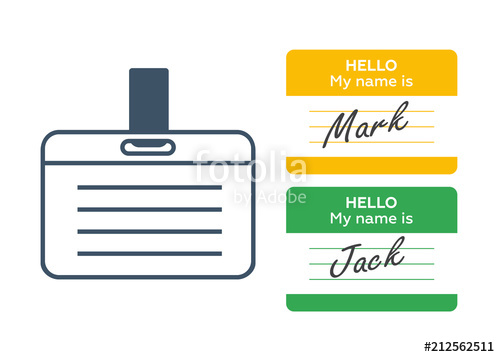 500x357 Hello My Name Is... Introduction Cards, Vintage Labels And Badges