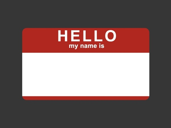 600x450 Hello My Name Is Sticker Free Vector In Encapsulated Postscript