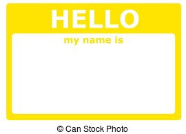 270x194 Hello My Name Is Sign With Blank White Copyspace For Text... Stock