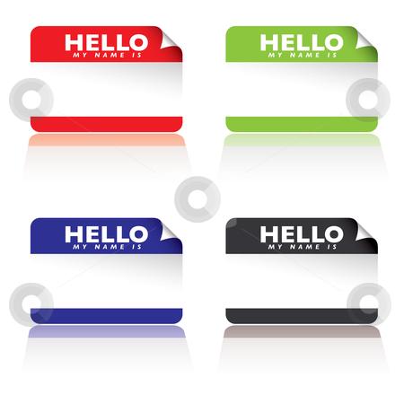 450x450 Hello My Name Is Stock Vector
