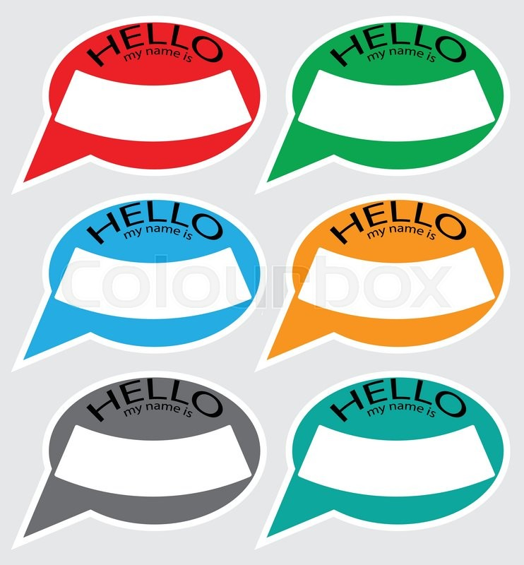 742x800 Hello My Name Sticker Badge Color. Name Tag, Name Card, Baby Names