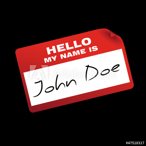 500x500 Hello My Name Is