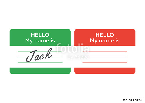 500x357 Name Tag Banner. Name Tag Set. Hello My Name Is. Card, Label