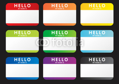 400x282 Vector Hello My Name Is Stickers Buy Photos Ap Images Detailview
