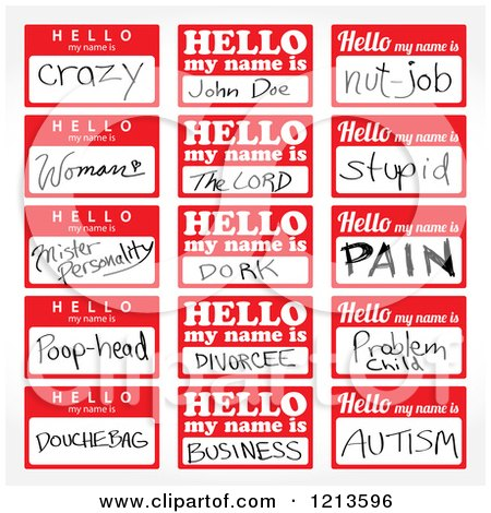 450x470 Clipart Of Hello My Name Is Stickers