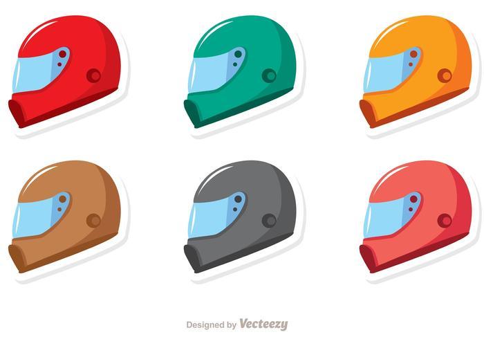 700x490 Racing Helmets Vector Pack