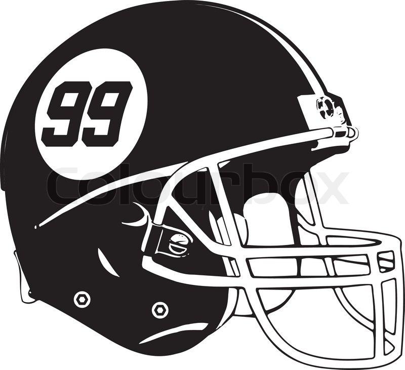800x731 American Football Helmet Stock Vector Colourbox