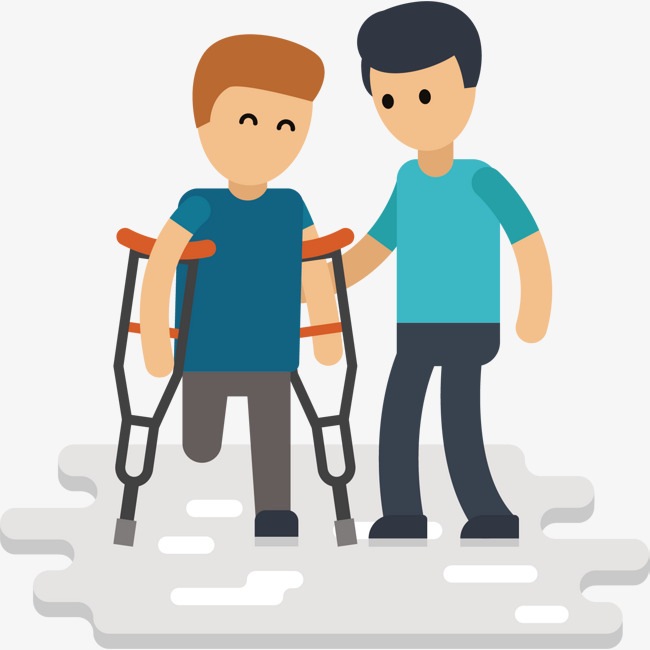 650x650 Help Disabled Vector, Hand, A Cane, Short Hair Png And Vector For
