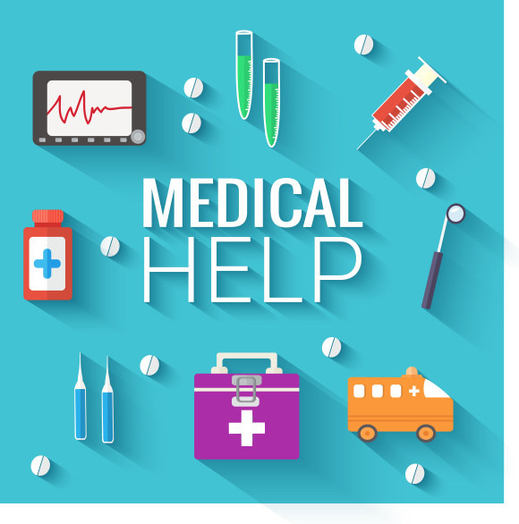580x586 Medical Help Flat Icons Vector Free Vector In Encapsulated