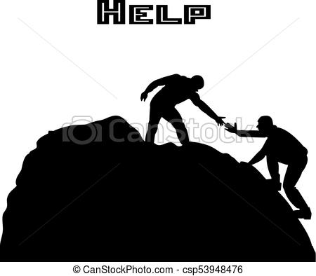 450x394 Silhouette Of Two People Metaphor (Help, Support, Friendship), On