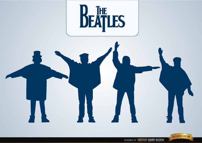 842x596 The Beatles Help Silhouettes