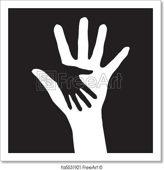 561x581 Free Art Print Of Helping Hands. Helping Hands. Vector