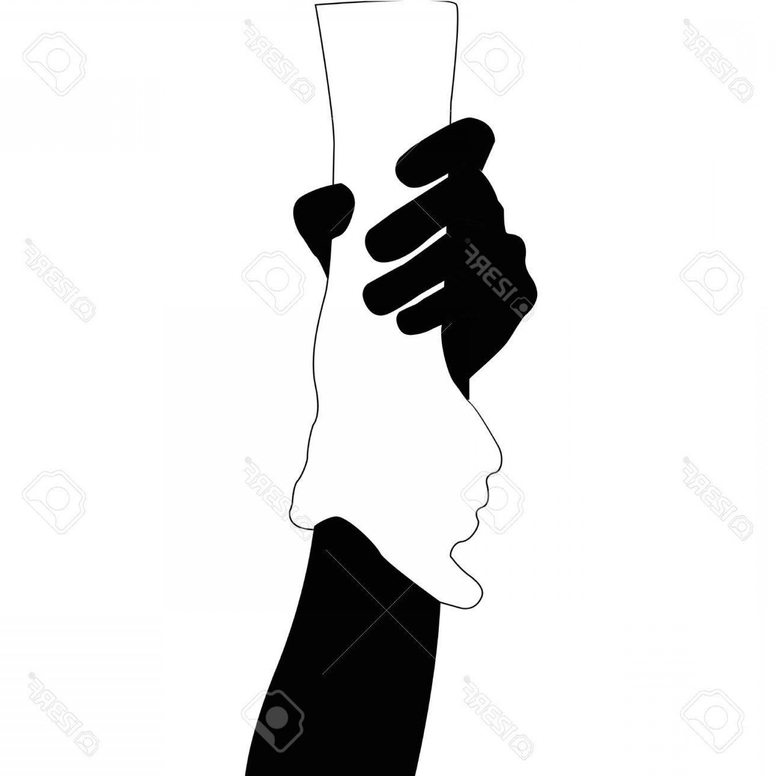 1560x1560 Photostock Vector Helping Hands Vector Black And White On White