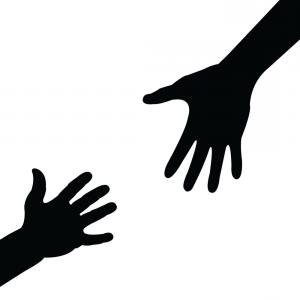 300x300 Black Hand Silhouette With Pointing Finger Vector Arenawp