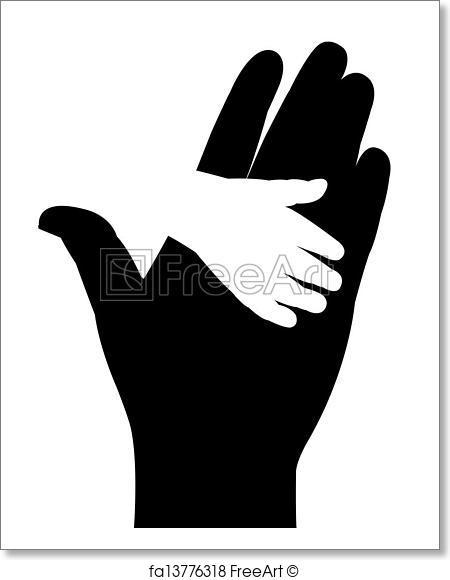 450x580 Free Art Print Of Helping Hands Vector Freeart Fa13776318