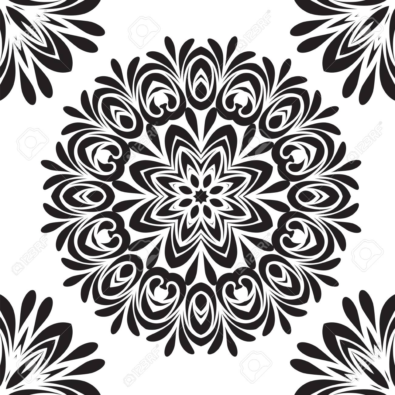 Henna Design Vector