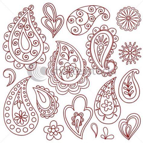 474x474 Paisley Stencil Paisley Henna Designs Henna, Vector