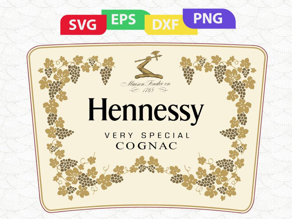 1024x768 Hennessy Bottle Label