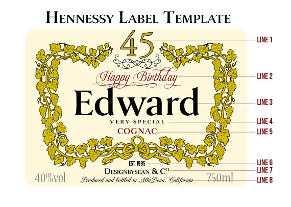Hennessy Label Vector at GetDrawings com | Free for personal use